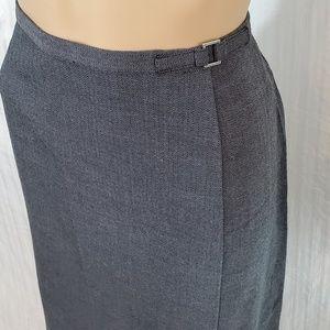Norton McNaughton Grey Midi Skirt Career Size 14P